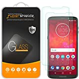 [2-Pack] Supershieldz for Motorola Moto Z3 / Z3 Play Tempered Glass Screen Protector, Anti-Scratch, Bubble Free, Lifetime Replacement