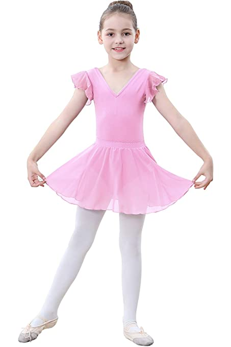 d865ab5e5 ZOEREA Girls Ballet Dress (Pink, Label 105/ Advise Height: 39.76-41.33