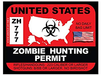 ISIS Hunting Permit Sticker Decal Patriotic 2nd amendment