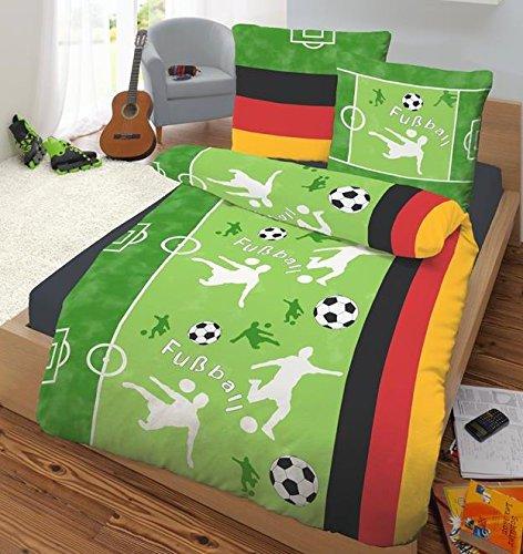 Bettwäsche Fußball 135x200 + 80x80 mit Reißverschlüsse