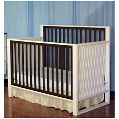 Moderno Convertible Crib In White And Espresso by Eden Baby Furniture