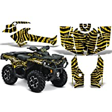 CreatorX Can-Am Outlander 800 1000 R Xt Graphics Kit Decals Stickers Zebra Camo Yellow