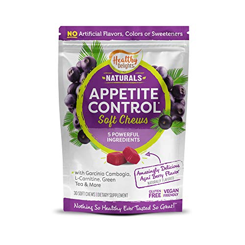 Healthy Delights Naturals – Appetite Control Soft Chews – Garcinia Cambogia, L Carnitine, Green Tea, White Kidney Bean…