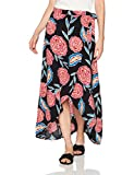 Roxy Women's Missing You Woven Skirt, Anthracite Mexican Roses, S