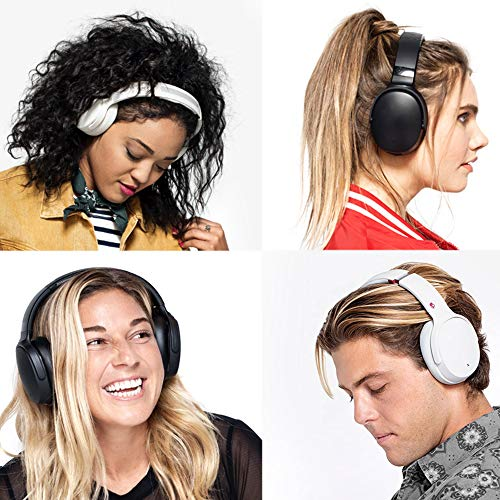 Skullcandy Venue Active Noise Cancelling Headphones, Over The Ear Bluetooth Wireless, Tile Integration, Rapid Charge 24-Hour Battery Life, Lightweight Premium Materials, White/Crimson