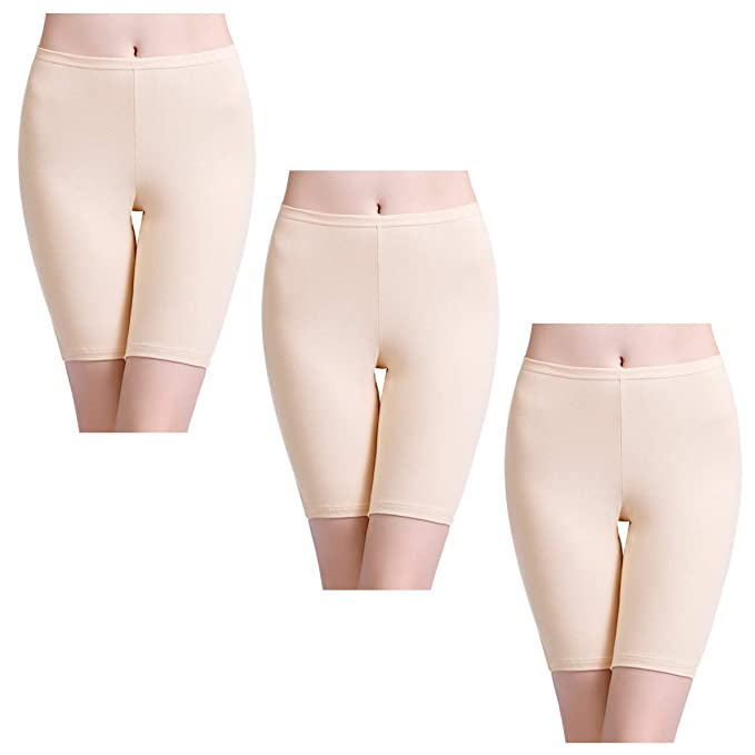 f854bd9d176 wirarpa Women's Slip Cotton Boyshorts Anti Chafing Stretch Underwear ...
