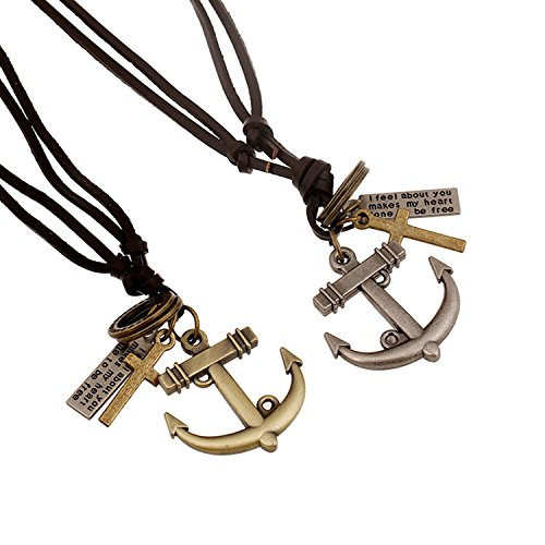 vintage anchor necklace - 3