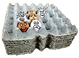 Cardboard Chicken Egg flats, egg trays, egg cartons for small, medium, Large, and Extra Large Eggs made from recycled paper (Pack of 12 Egg filler flats) Holds 30 eggs each flat