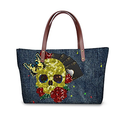Wallets Handbags Top Purse Stylish Foldable W8ccc1947al Handle Satchel Bags FancyPrint Women qSP6wF