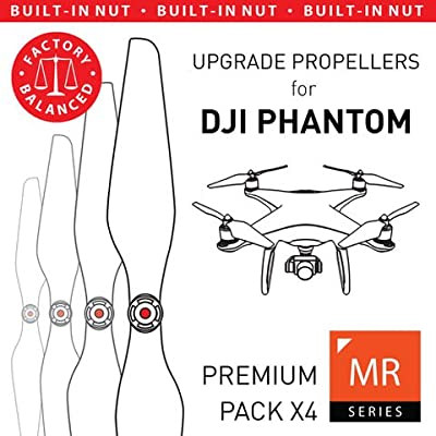 MAS Upgrade Propellers for DJI Phantom with Built-in Nut in White - x4 in Set