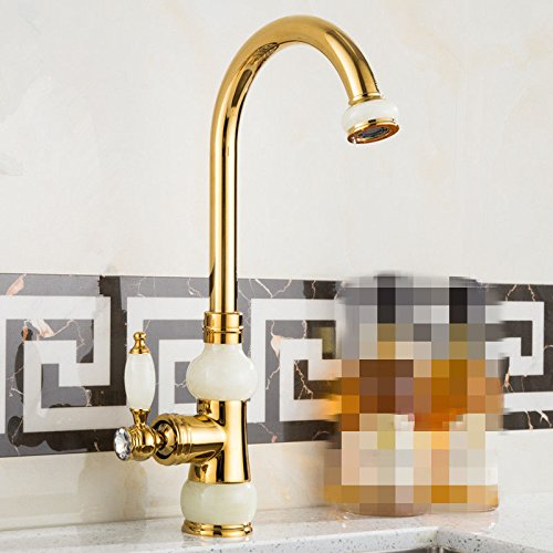 Lpophy Bathroom Sink Mixer Taps Faucet Bath Waterfall Cold and Hot Water Tap for Washroom Bathroom and Kitchen Copper Hot and Cold redating gold