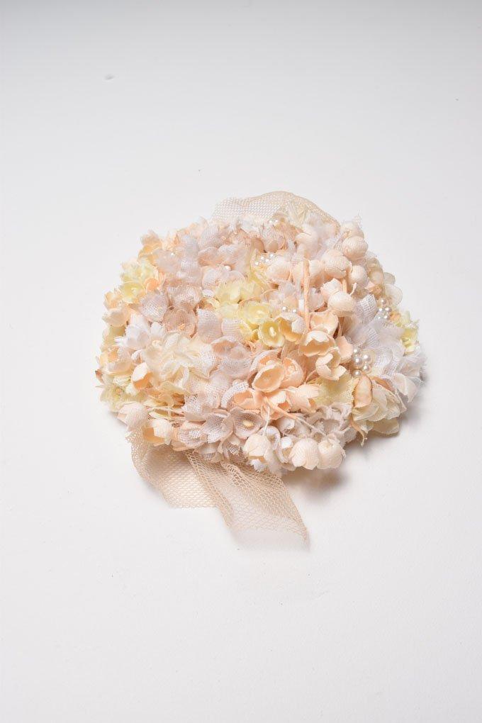 Nostalgic 40's Bridal Hair Clip | Wedding & Bridal | Cotton Flowers | Handmade in Japan