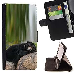 Jordan Colourful Shop - bear sleepy Alaska black nature green For Apple Iphone 6 - < Leather Case Absorci????n cubierta de la caja de alto impacto > -
