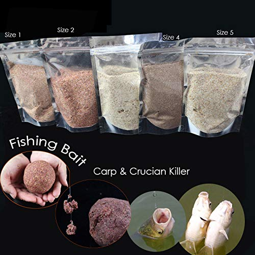 Hot! 200G/Bag Fishing Baits Crucian&Carp Preferred Main Ingredient Animal-Plant Protein Powder Fishing Lure 4 Sizes for Options - (Color: Size 1)