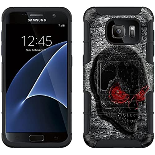 Samsung Galaxy S7 Armor Hybrid Case Digital Red Eye Skull 2 Piece Case with Holster for Samsung Galaxy S7 Sales