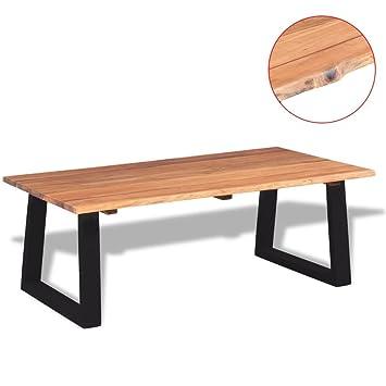 SENLUOWX Table Basse en Bois d\'acacia Massif 110 x 60 x 40 ...