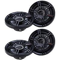 Crunch 300 Watts 6.5-Inch 3-Way 4 Ohms CS Speakers, Black (2 Pack) | CS-653