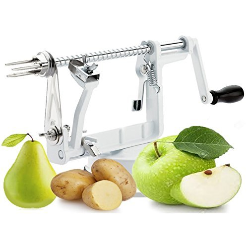 Vitasana Apple Peeler Corer Slicer Hassleback Potato Peelers Cast Iron Deluxe Kitchen Gadgets Stainless Steel Blade