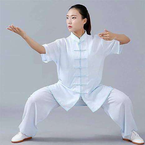 Amazon.com: Bozevon Tai Chi Uniform Ropa – Qi Gong de manga ...
