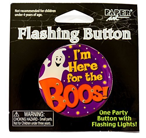 rs for Adults ~ Light Up Flashing Buttons ~ Here for the BOOS ~ 6 Pack (Boo Buttons)