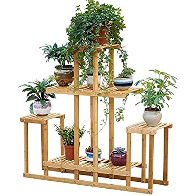 Ceramic vases Wrought Iron Multi-Functional Partition Flower Stand, Indoor Living Room Decoration Balcony Multi-Layer Trapezoidal Flower Shelf, Outdoor Hanging,vase, Patio,Wedding (Size : 10392CM): Home & Kitchen