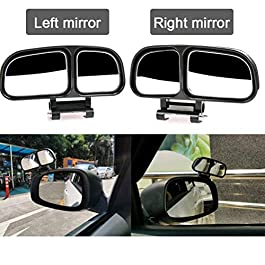 AutoTrends Left/Right Side Car Mirror Blind Spot and Parking Multi Angle Adjustable (2 Pieces)