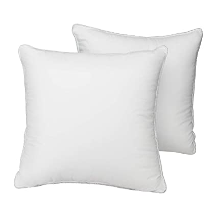 Amazoncom Homeideas Pillow Inserts 100 Cotton Cover Premium