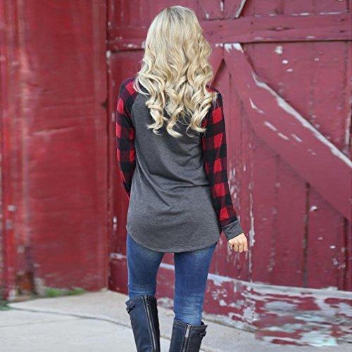 Egmy 2017 Dames-o-hals Sweatshirt Met Lange Mouwen En Lange Mouw Blouse Shirt Grijs