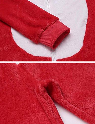 Natale Pigiama ADOME Donna Invernale Tuta Intera Rosso Notte a da Camicie HqzpwqPxZ