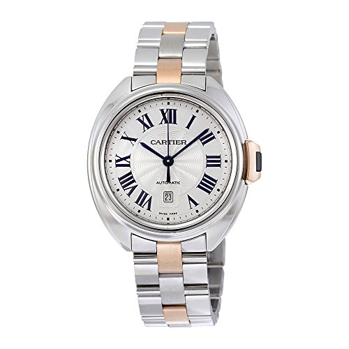 Cartier Women's 'Cle De Midsize' Swiss Automatic Stainless Steel Casual Watch, Color:Two Tone (Model: W2CL0004)