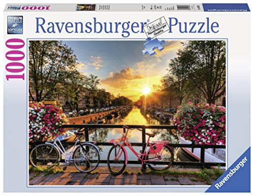 Ravensburger Bicycles in Amsterdam 1000 Piece Jigsaw Puzzle for Adults - Every Piece is Unique, Softclick Technology Means Pieces Fit Together Perfectly