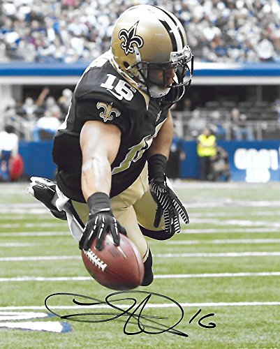 Lance Moore, New Orleans Saints, Signed, Autographed, 8x10 Photo, a COA with the Proof Photo of Lance Signing Will Be Included.