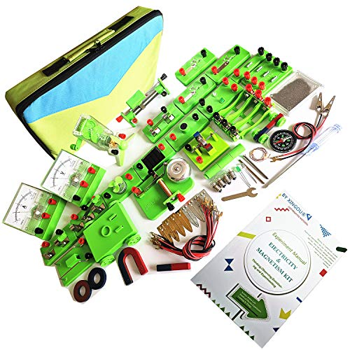 Electronics Science Kits for Physics Lab Basic Circuit and Magnetic Learning Best Stem Educational Toys for Kids by XINGOU (Electromagnet Science Set)