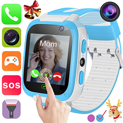 Kids Learning Smart Watch Phone for 3-12 Years Boys Girls with 1.44'' Touchcreen 2 Way Call SOS Camera Puzzle Games Alarm Clock Stopwatch Digital Wristwatch Bracelet Christmas Birthday Students ()