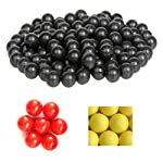 500 Count X 0.43 Cal. Black PVC/Nylon Riot Balls Self Defense Less Lethal Practice Paintball