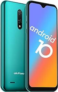 "Unlocked Smartphone, Ulefone Note 8 (2020) Android Phones Unlocked 2GB+16GB, Dual Rear Camera Triple Card Slots, 5.5"" IPS Full-Screen 3G Dual SIM Cell Phone Unlocked, 2700mAh, Face Recognition - Green"