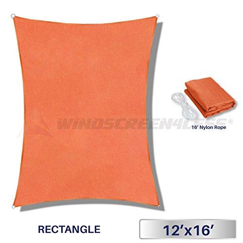 Windscreen4less Outdoor Backyard Tangerine Rectangle product image