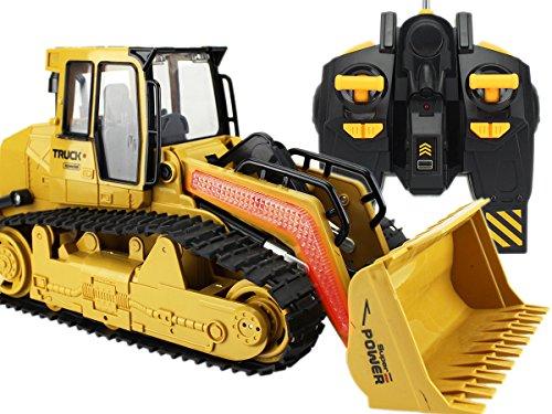Radlader Truck RC Baufahrzeug, Bagger, 3 Kanal, Maßstab 1:18, mit Akku Spielzeug Spiel Trecker Bagger Ferngesteuert mit LED und SOUND NEU