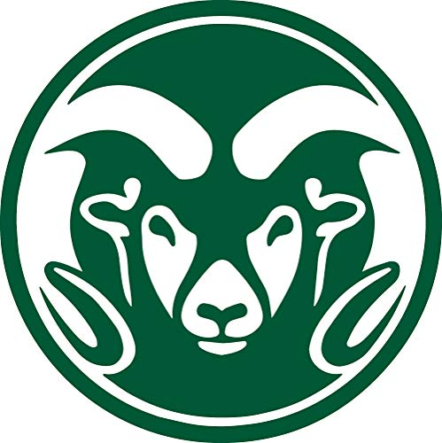 ANGDEST RAMS Colorado State University (Green) (Set of 2) Premium Waterproof Vinyl Decal Stickers for Laptop Phone Accessory Helmet Car Window Bumper Mug Tuber Cup Door Wall Decoration
