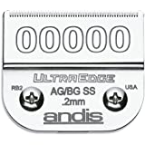 Andis Carbon-Infused Steel UltraEdge Dog Clipper Blade, Size-00000, 1/125-Inch Cut Length (64740)