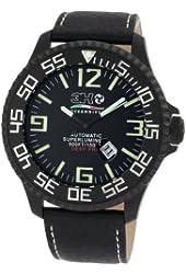 3H Men's DPB1L 52MM Black PVD Automatic Black Dial Luminous Numbers Interchangeable Band Watch