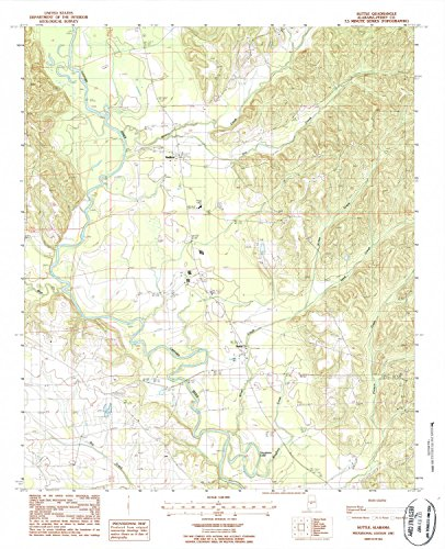 Suttle AL topo map, 1:24000 scale, 7.5 X 7.5 Minute, Historical, 1987, updated 1987, 27 x 22 IN - Tyvek (Suttle Light)