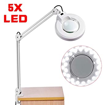 235 Table À Pince De Yunrux Led Loupe 5 Ampoules Avec Lampe Mm 6bf7gYy