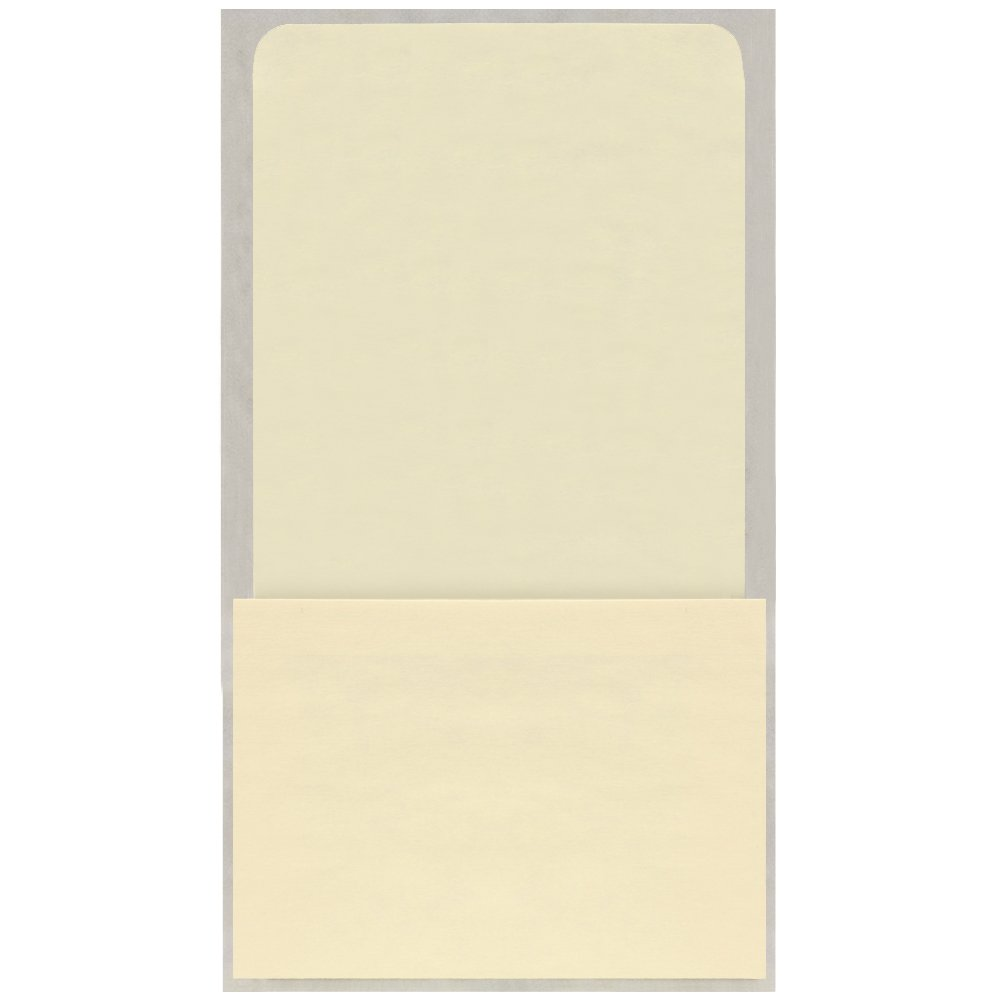 Peel and Stick / Self Adhesive High Back Book Pockets - No Date Grid-50/pkg