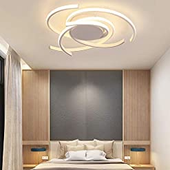 Interior Lighting TFCFL Modern LED Ceiling Light, Flush Mount Dimmable Acrylic Chandeliers Pendant Lamp with Remote Control for Living… modern ceiling light fixtures
