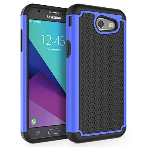 Case for Samsung Galaxy J3 Emerge / J3 2017 / J3 Prime / J3 Mission / J3 Eclipse / J3 Luna Pro / Sol 2 / Amp Prime 2 / Express Prime 2, SYONER [Shockproof] Defender Phone Case Cover [Blue]
