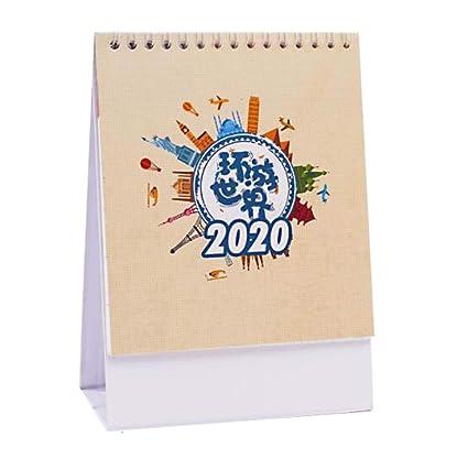 Calendario mensual/diario del calendario de escritorio 2019-2020 ...