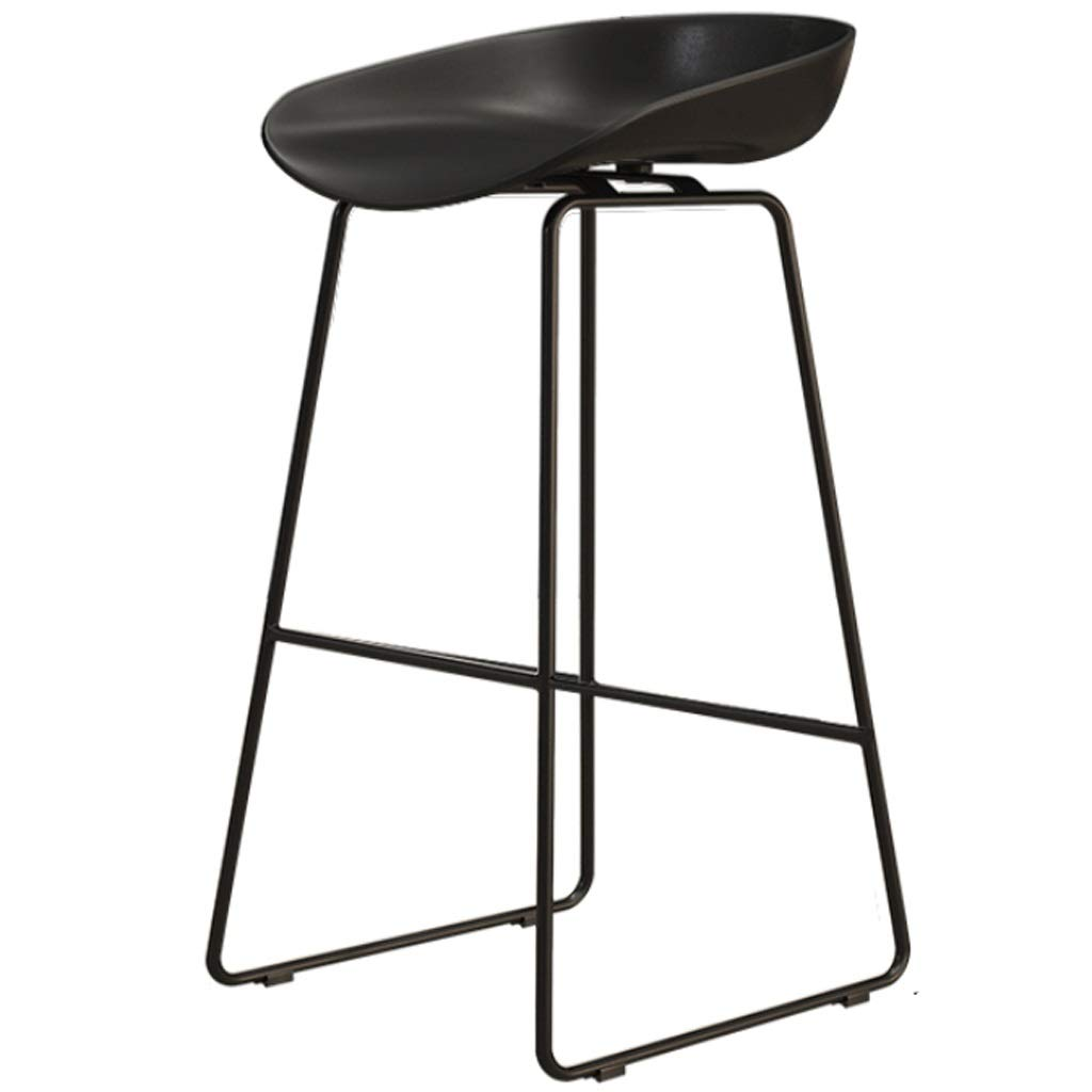 C Sitting height 65CM Iron High Stool Bar Chair Restaurant Counter Chair Cafe Metal Chair Modern Minimalist Home backrest high Chair (color   C, Size   Sitting Height 45CM)