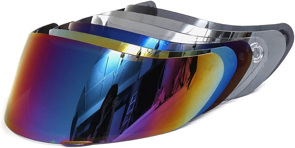 Festnight Visi/ère de Casque de Protection Contre Le Vent Moto Ajustement Complet pour AGV K1 K3SV K5