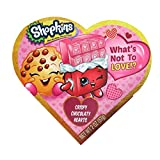 Shopkins Valentines Day Heart Gift Box with Chocolate Heart Candy, 2 oz (Pink)
